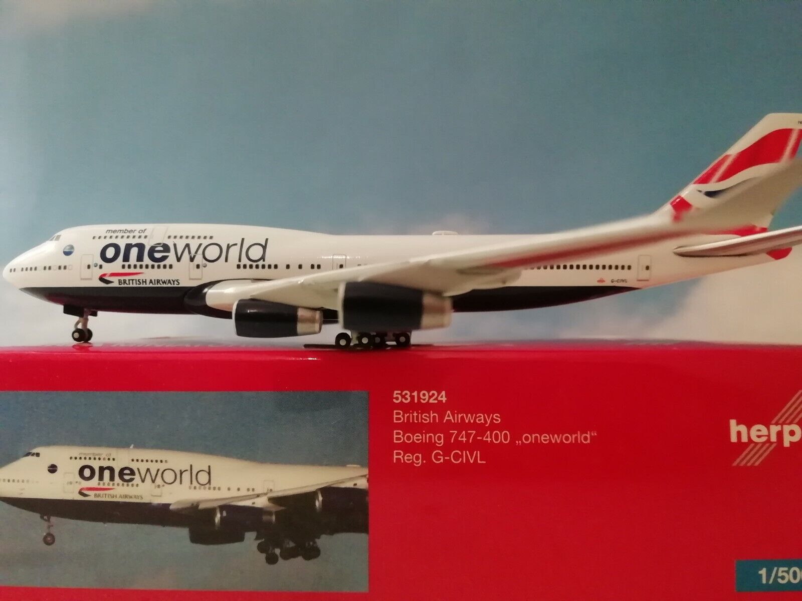 1 500 Herpa Wings Herpa Herpa Wings British Airways B747-400 (531924)