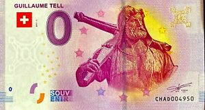 BILLET-0-EURO-GUILLAUME-TELL-SUISSE-2017-NUMERO-SUITE-4950