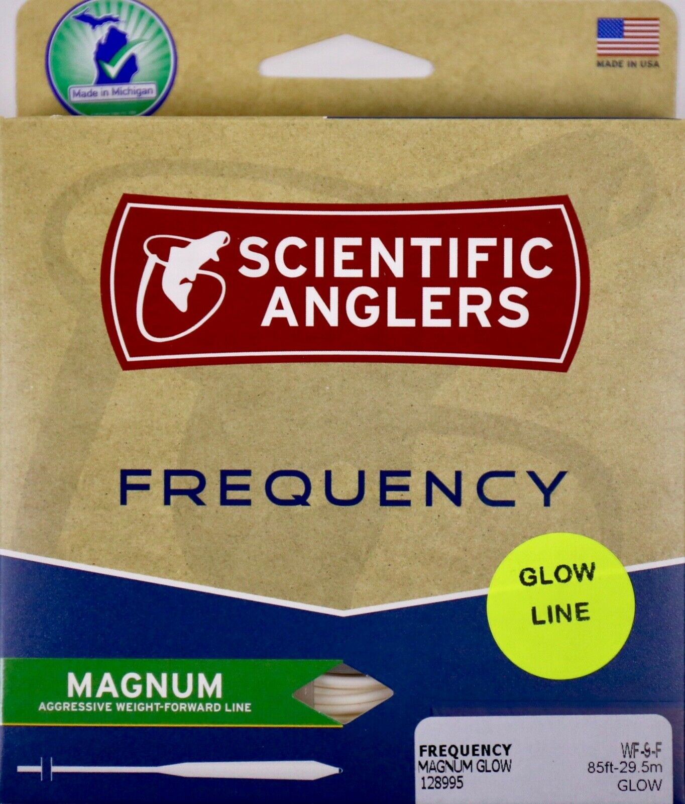 Scientific Anglers Frequency Magnum Glow Fly Line WF9F Free Fast Shipping 128995