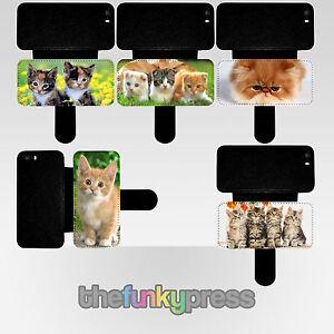 Tenero-Gatto-Portafoglio-in-Similpelle-Custodia-Flip-Iphone-5-5s-6-6s-se-7-8-X