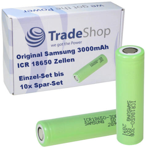 Samsung ICR 18650 3000mAh 3.7V Li-ion Rechargeable Battery LED Taschenlampe Akku