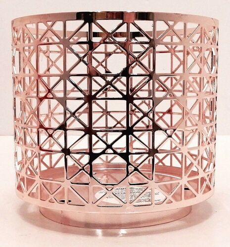 BATH /& BODY WORKS BRONZE MODERN LINES 3 WICK CANDLE HOLDER SLEEVE NEW!