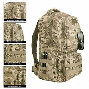 US Military Backpack Tactical MOLLE Bag Hiking Camping Outdoor Waterproof 40/55L