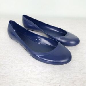 J-Crew-Jelly-Ballet-Flats-Brilliant-Blue-Size-8-US-Made-in-Italy-Slip-On-Shoes