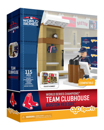 BOSTON RED SOX 2018 WORLD SERIES CHAMPS TEAM CLUBHOUSE 115 PIECE OYO MINIFIGURE