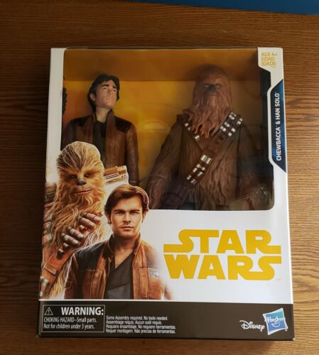 BRAND NEW SEALED Toys R Us Exclusive Rare Star Wars Chewbacca /& Han Solo 10/""