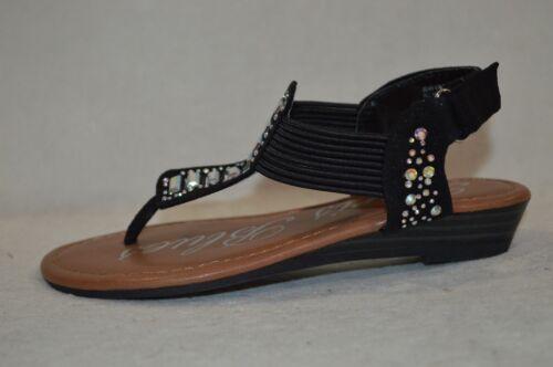 Size 11 Paris Blues Girl/'s Jean Black Sandals 11.5 3 NWB