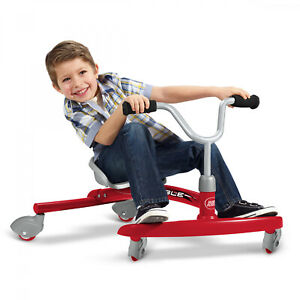 Radio-Flyer-Ziggle-Caster-Ride-on-For-Kids-360-Degree-Spins-Red-Pink-Boys-Girls