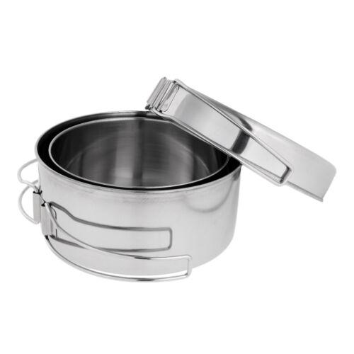 4pcs//Set Outdoor Camping Backpacking Cooking Picnic Cookware Bowl Pot Pan
