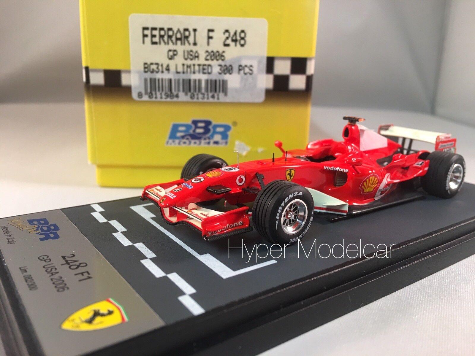BBR Models 1 43 F1 Ferrari F 248  5 Gp Usa 2006 M. Schumacher BG214