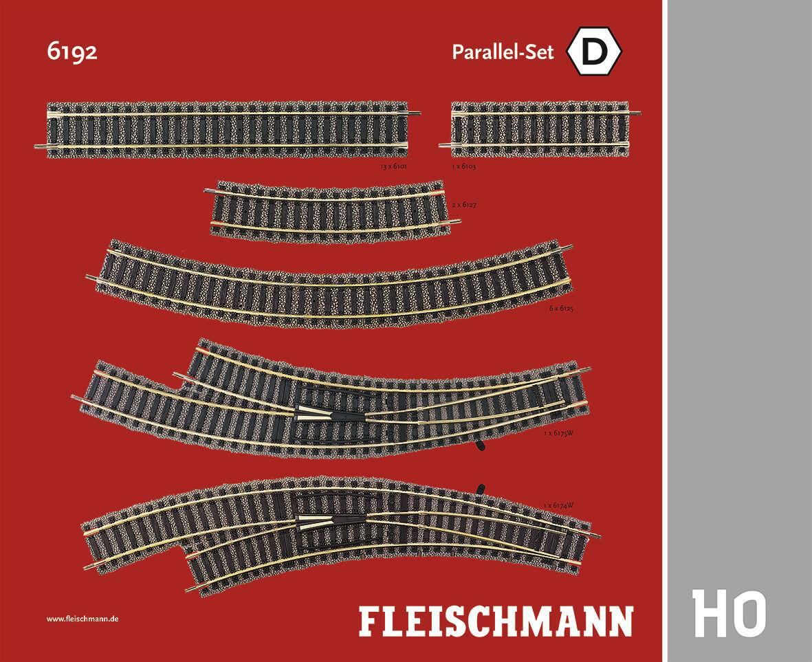 Fleischmann h0 6192-Profi  binario parallelo-Set d  - NUOVO + OVP