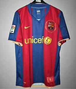 Desfavorable Universal Inmundicia  BARCELONA SPAIN 2007/2008 HOME SHIRT JERSEY CAMISETA NIKE FOOTBALL   eBay