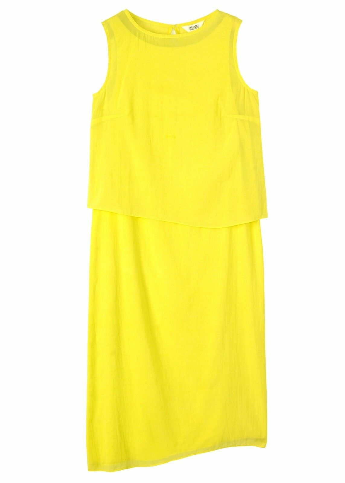 TOAST damen 'FELICE' BRIGHT CITRINE Gelb LAYErot DRESS -UK 8- BNWT - -