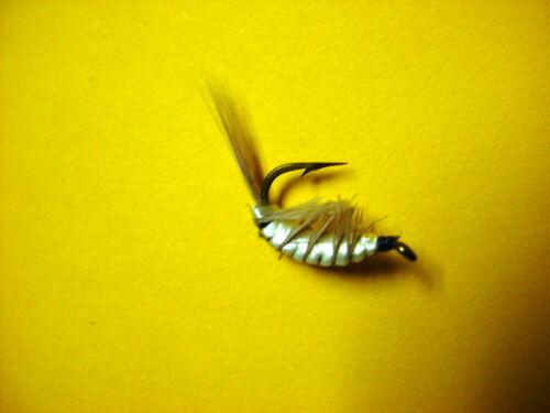 Hank Roberts Premier Tru-FLY SHRIMP SZ 6 Gris Saltwater Flies 12