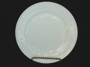 TOTALLY-TODAY-WHITE-CHINA-SALAD-PLATE-EMBOSSED-PATTERN