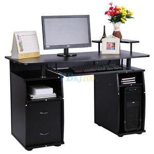 Pc schreibtisch  Computertisch PC Schreibtisch Arbeitstisch Büro Tisch Schwarz ...