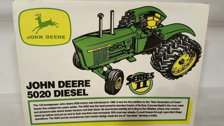 ventas en línea de venta Ertl John Deere 5020 con DUALS  diecast diecast diecast coleccionables réplica de tractor de granja  100% autentico