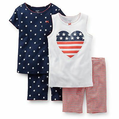 MY FIRST 4TH 2 PIECE BODYSUIT AND BIB SET RED WHITE BLUE 3-6 MOS NEW