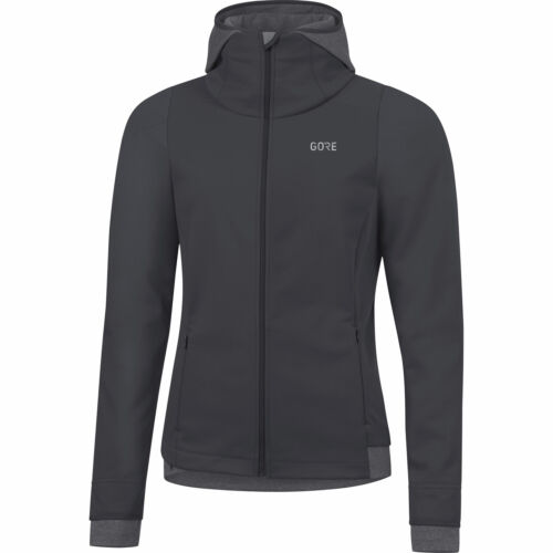 Gore Wear R3 W Gore Windstopper Thermo Hoodie Terra Grey Damen Laufjacke Grau