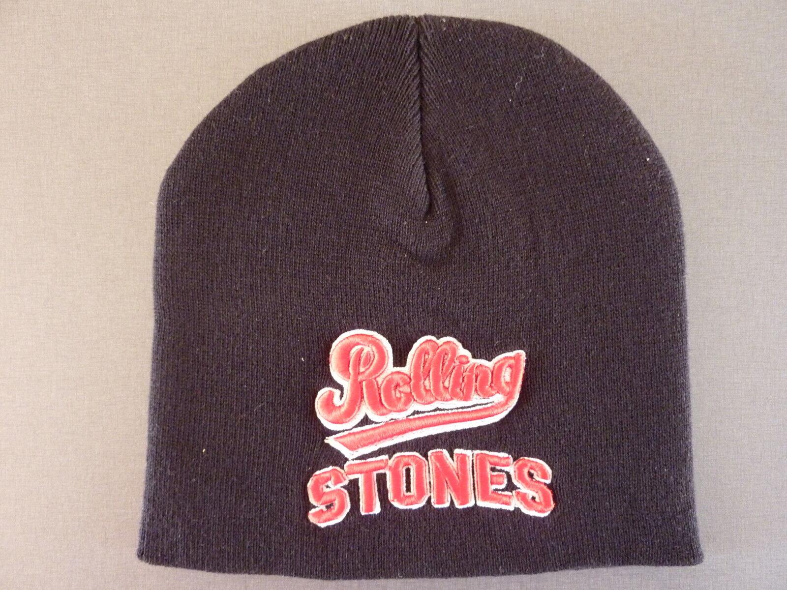 Rolling Stones Mütze Strickmütze Unisex Beanie Winter Warm Schwarz Logo Original