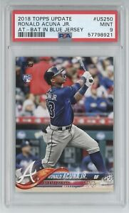 2018 Topps Update RONALD ACUNA JR #US250 graded PSA 9 rookie card RC MLB NICE!