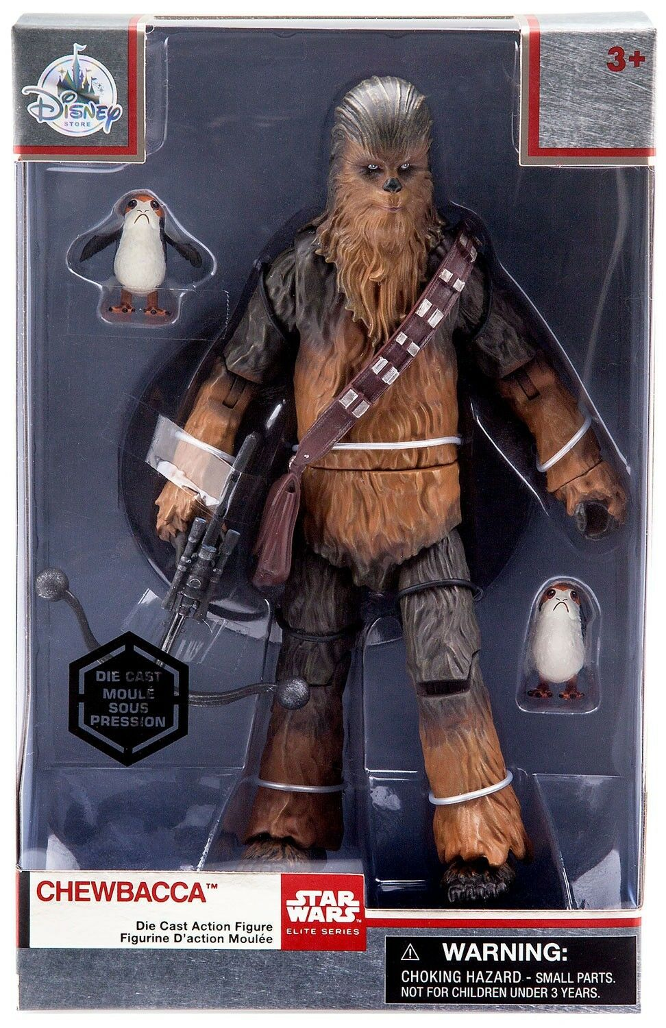 Star Wars Elite Series Chewbacca Exclusive 8-Inch Diecast Figure [with Porgs]