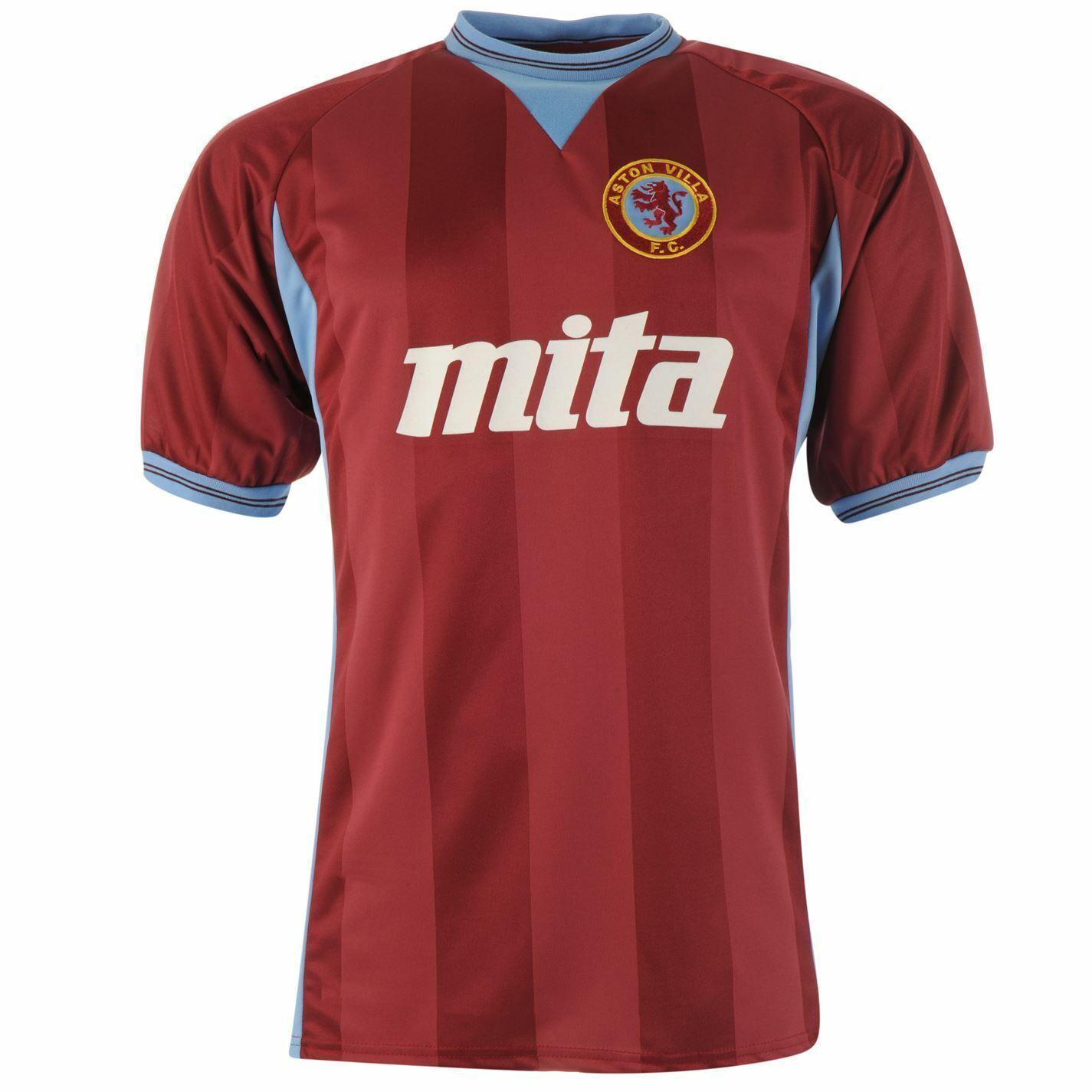 Aston Villa 1984 Rétro Prima Prima Prima Maglia Uomo Claret Calcio Ventola Maglietta 8b38d9