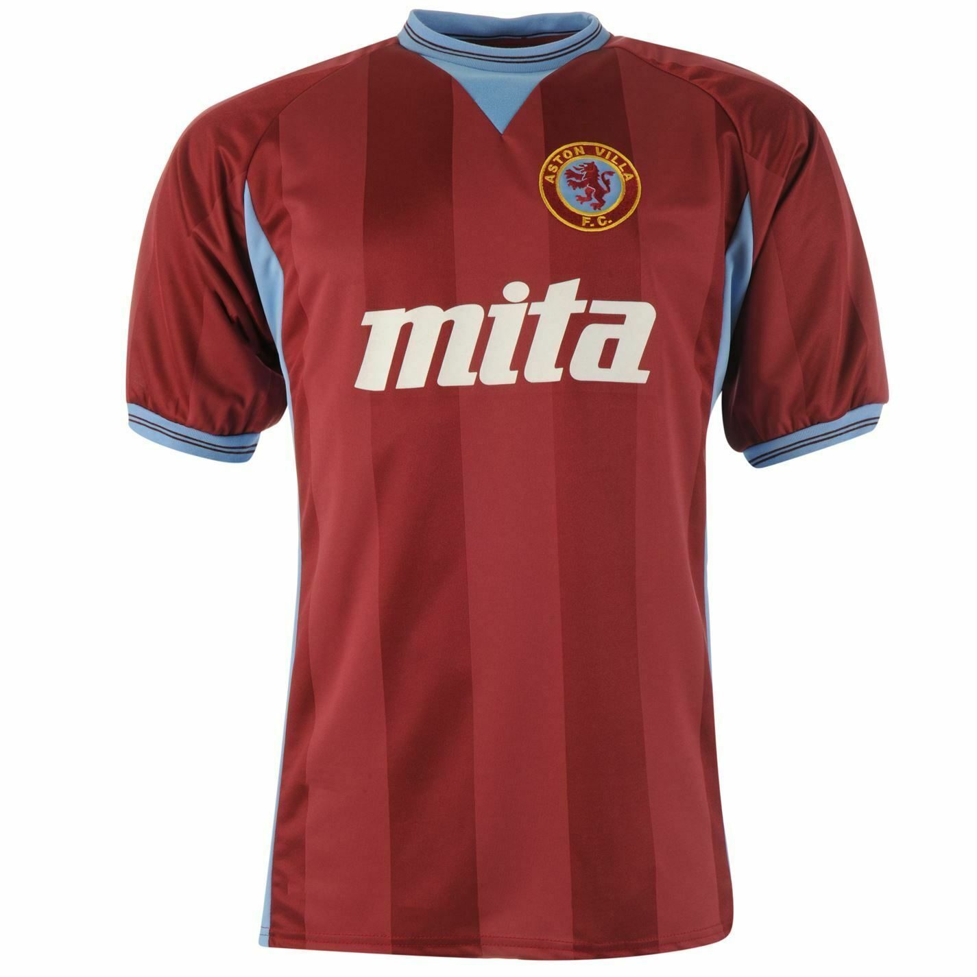 Aston Villa 1984 Retro Heim Trikot Herren Claret Fußball Fan Hemd T-Shirt