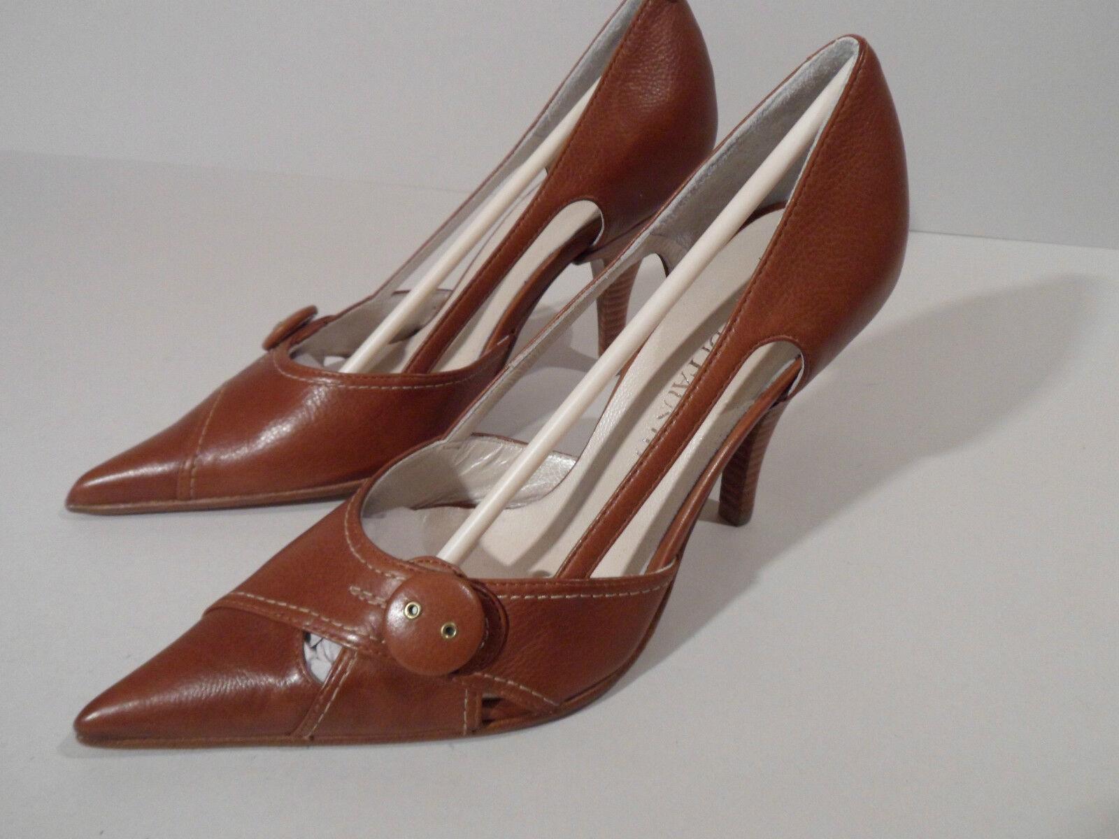 Moda Di Fausto Ladies Brown Calf Leather Sole Shoe Heel EU 32.5 UK 13.5 Italian