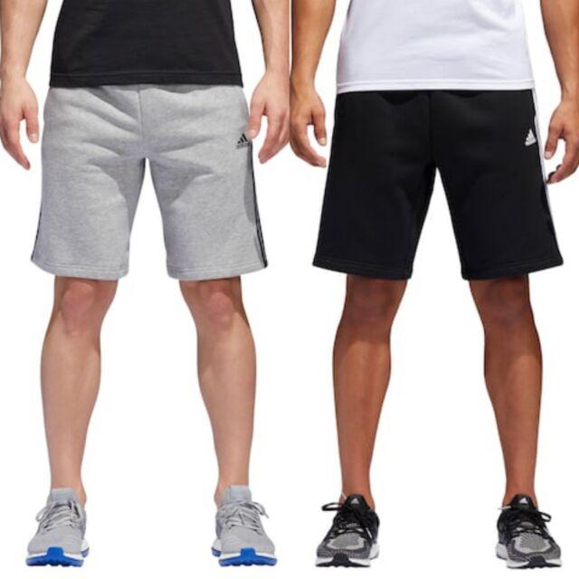 adidas Men/'s Athletics Essential Cotton Gray Fleece Shorts BNWTS Small