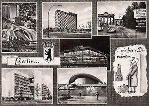 AK-Envoye-BERLIN-CAFE-KRANZLER-sektiorengrenze-Porte-de-Brandebourg-1961-g3591