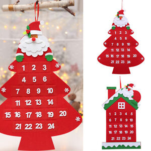 Christmas Countdown.Details About Ld Fm Christmas Countdown Santa Claus Advent Calendar Xmas Tree Hanging Orna