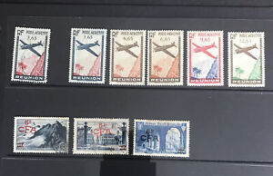 FRANCE: COLONIES. Reunion. MH Airmail and Used Stamps