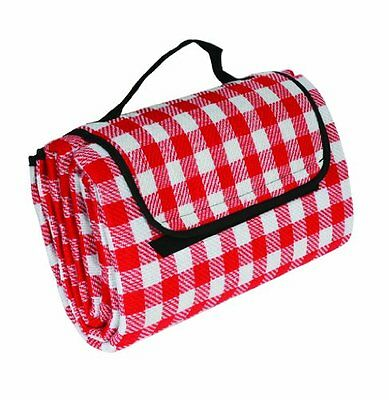 "Camco 42803 Picnic Blanket (51"" x 59"", Red/White), New, Free Shipping"