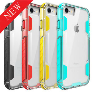 For-iPhone-7-8-X-8-Plus-Shockproof-Soft-PC-TPU-Hybrid-Clear-Case-Slim-Cover-AA