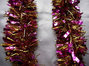 image is loading 10 purple amp gold tinsel christmas decorations tree