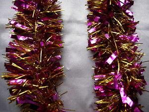 1-Purple-amp-Gold-Tinsel-Christmas-Decorations-Tree-9cmx2m-K