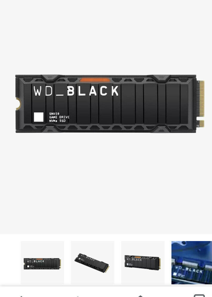 WD Black SN850 1TB M.2 PCIe 4.0 NVMe SSD/Solid State Drive with Heatsink PS5