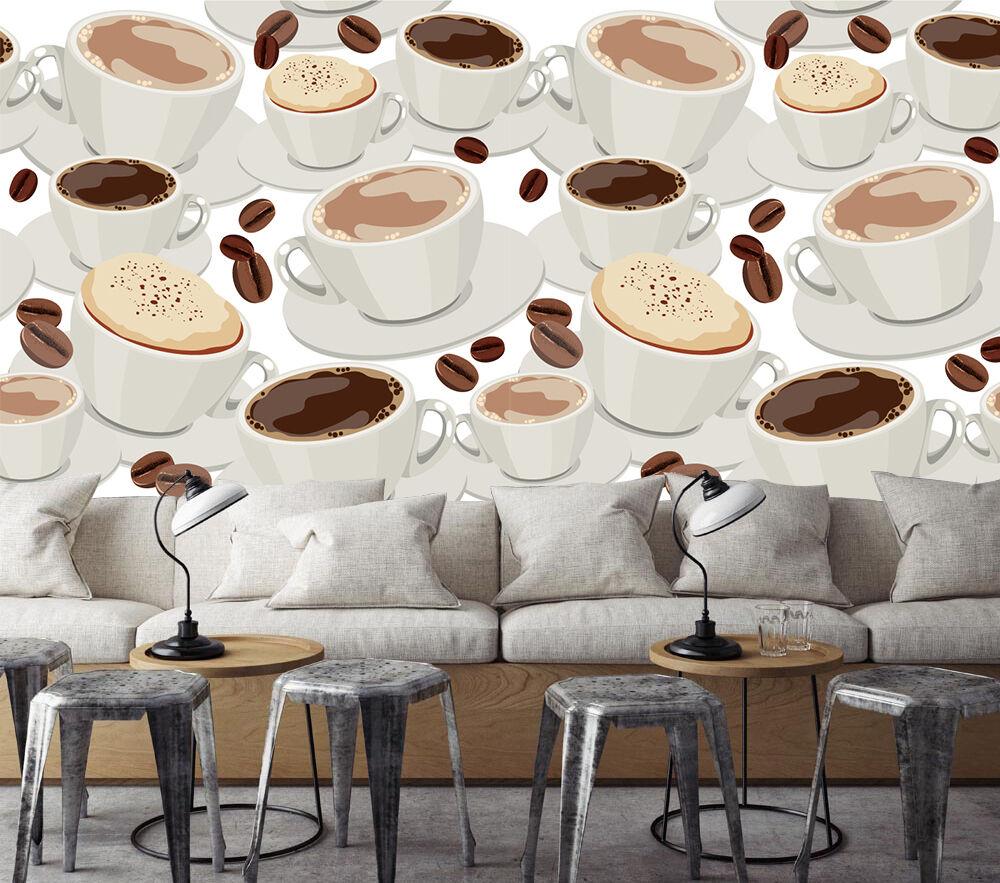 3D molti caffè 36 Parete Murale Foto Carta da parati immagine sfondo muro stampa