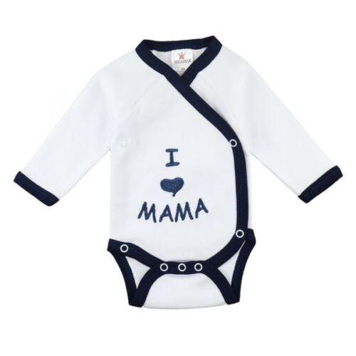 "Tg bianco-Marine Milarda Baby Body /""I love mamma/"" 50-68"