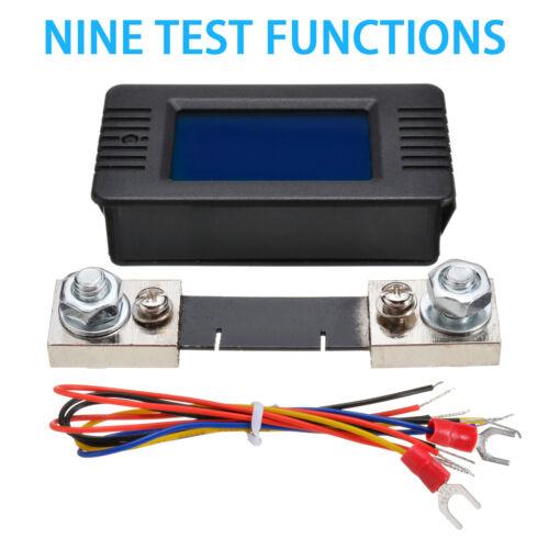 LCD Display DC Battery Monitor Meter 0~200V Voltmeter Ammeter For RV Car Solar