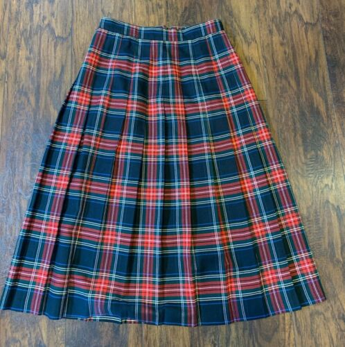 Willow Ridge Plaid Womens Skirt M/L 12-14 Red Blac
