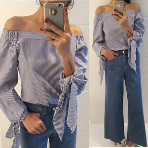 S-3XL-Womens-Fashion-Off-Shoulder-Long-Sleeve-T-Shirt-Casual-Loose-Tops-Blouse