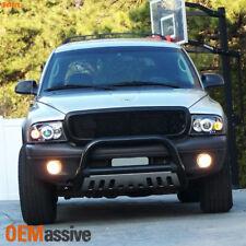 Fits 97 04 Dodge Dakota Durango Black Dual Halo Projector Led Headlights Lamp