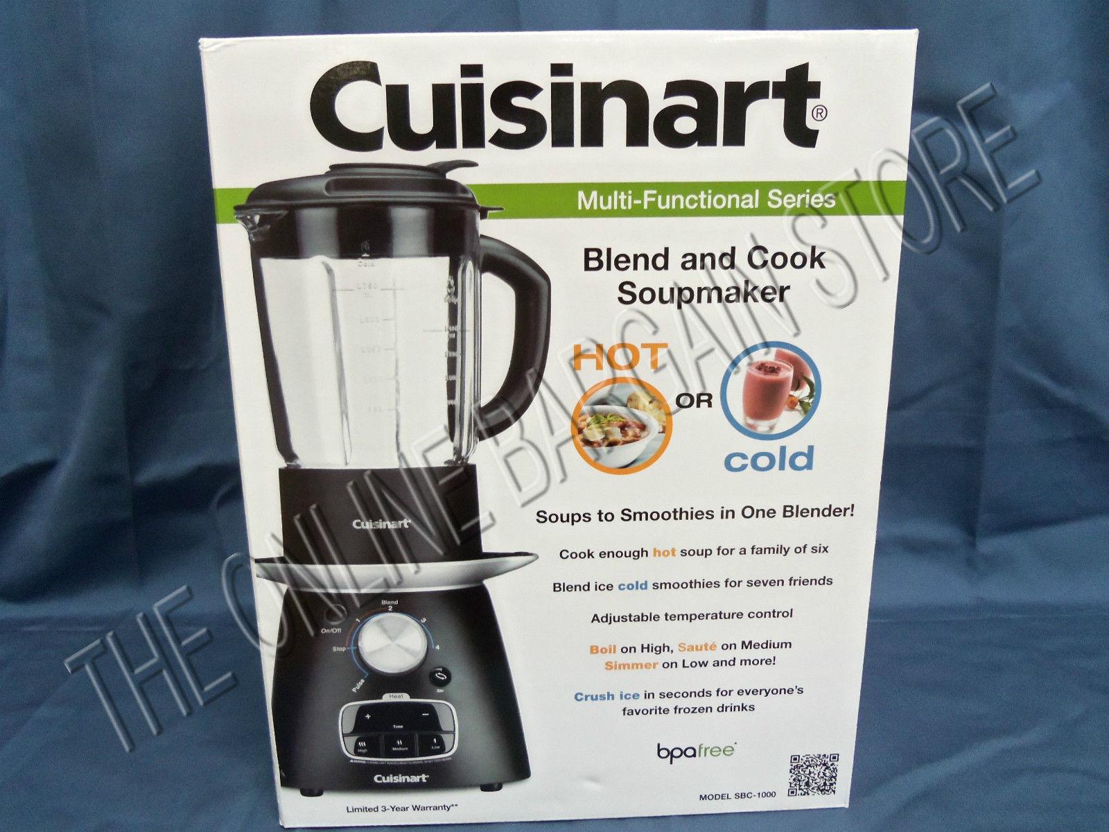 1b93afc2325 Cuisinart Blend and Cook Soup Maker SBC-1000 4-Speeds Blender for ...