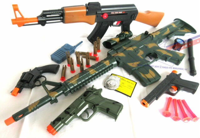 Military Guns For Sale >> 5x Toy Guns Military M4 Dart Rifle M 16 Colt 45 Camo 9mm Revolver Cap Guns