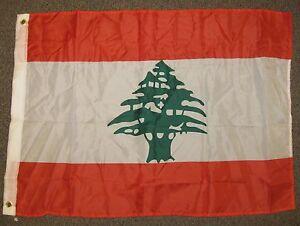 LEBANON FLAG 2X3 FEET LEBANESE 2'X3' NEW F1044