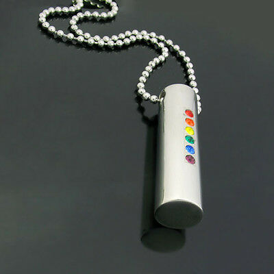 Acero Inoxidable Arcoiris Orgullo sólido Gota Colgante Con Color Cz/'s