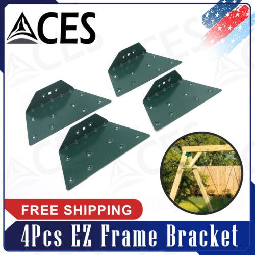 4Pcs EZ Frame Bracket Fit for Swing Set Swing Beam Green
