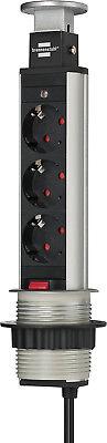 Brennenstuhl Tower Power Tischsteckdosenleiste 3-fach 2m H05vv-f 3g1,5, 13962000 üBereinstimmung In Farbe